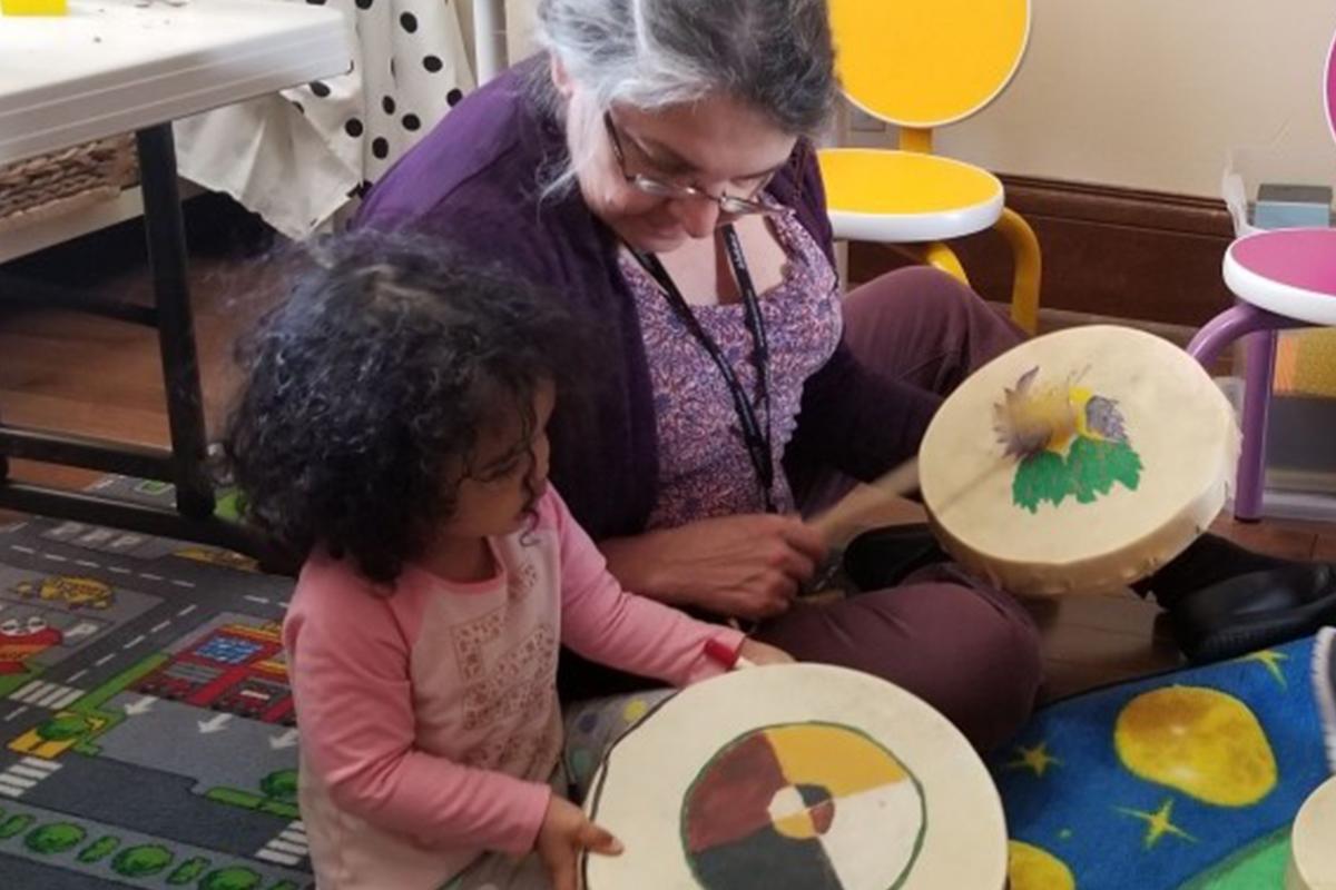 Wabano Kids Toddler and Adult Drumming
